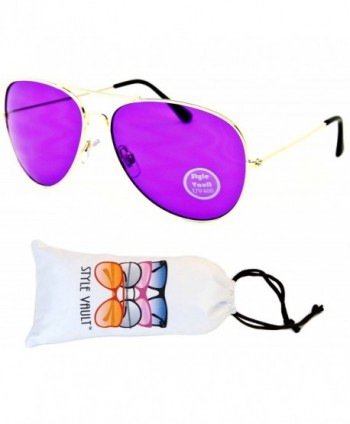 A67 vp Aviator Colored Sunglasses Gold Purple